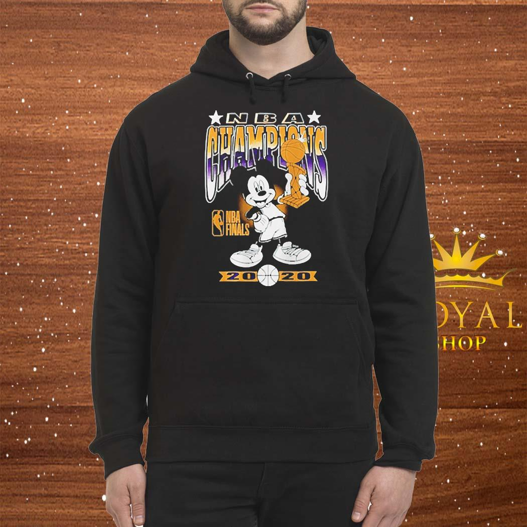 Lakers Mickey Mouse NBA Champions 2020 Shirt Hoodie