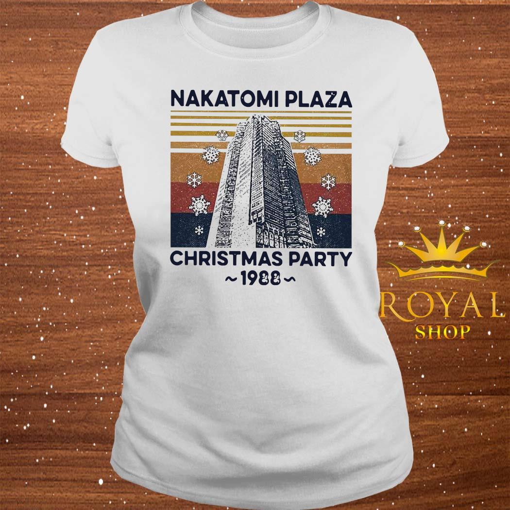Nakatomi Plaza Christmas Party 1988 Vintage Shirt ladies-tee