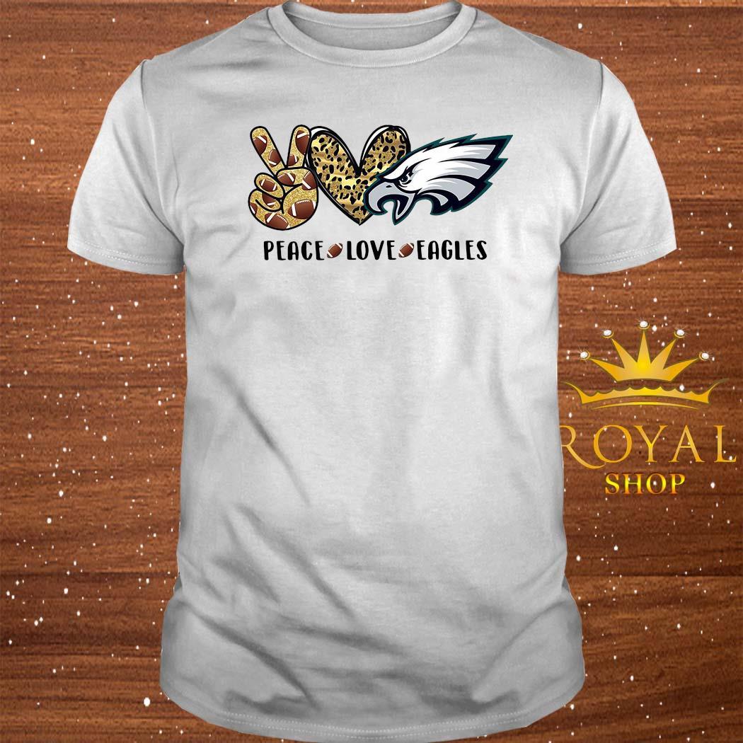 Peace Love Eagles Shirt