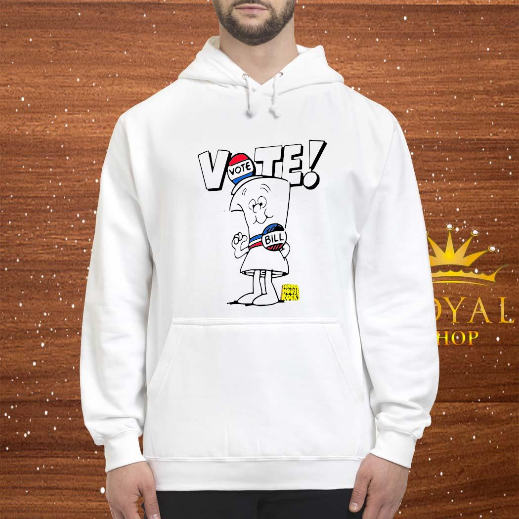 Womens Schoolhouse Rock Vote With Bill Shirt hoodie