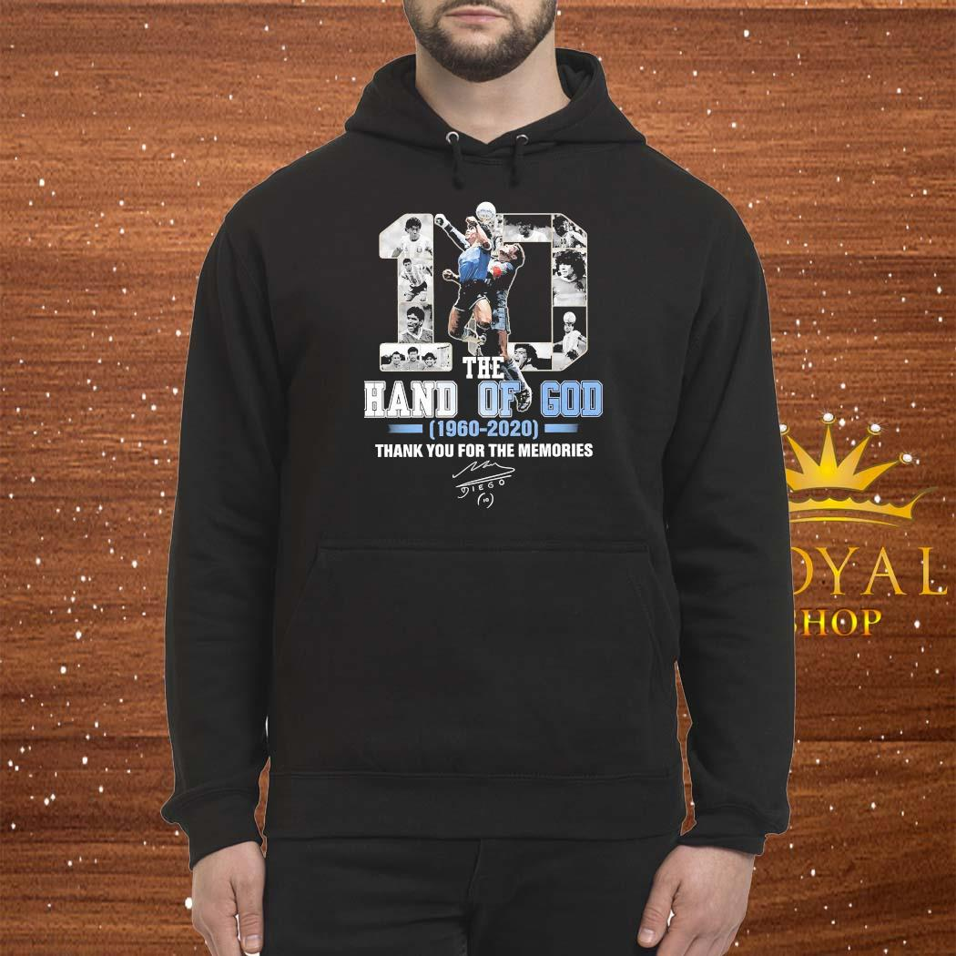 10 Diego Maradona The Hand Of God 1960 2020 Thank You For The Memories Signature Shirt Hoodie