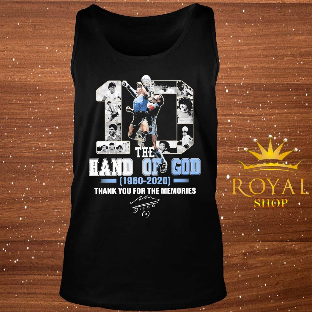 10 Diego Maradona The Hand Of God 1960 2020 Thank You For The Memories Signature Shirt tank-top