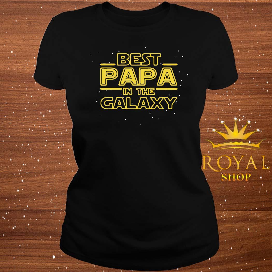 Best Papa Galaxy Birthday Father's Day Shirt ladies-tee