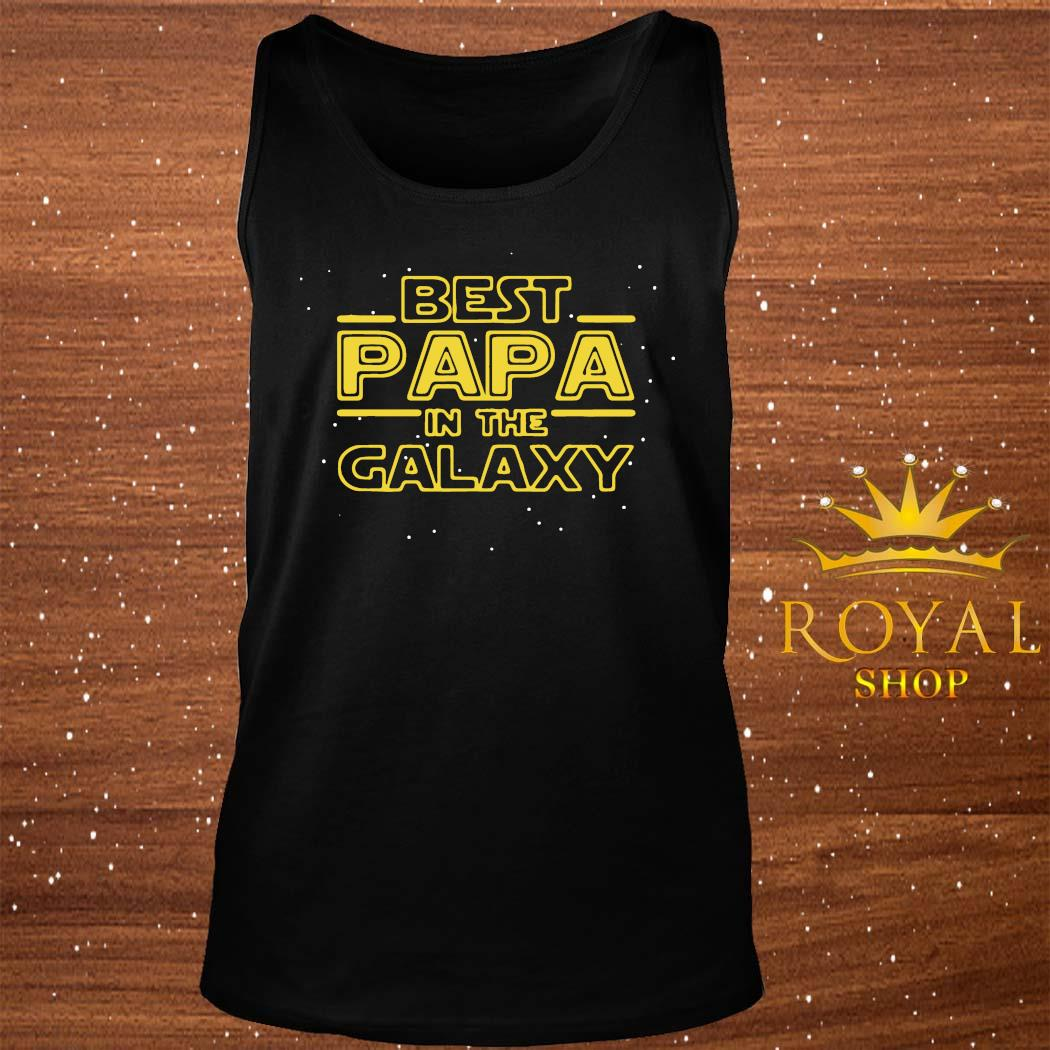 Best Papa Galaxy Birthday Father's Day Shirt tank-top