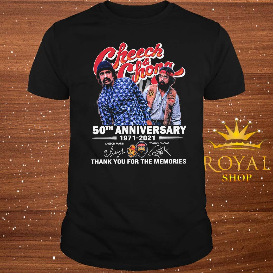 Cheech And Chong 50th Anniversary 1971 2021 Thank You For The Memories Signatures Shirt