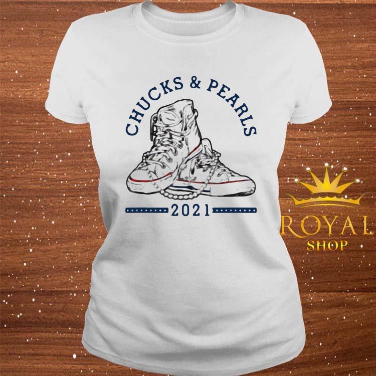 Chucks And Pearls Shirt Matching Mom Daughter Shirt ladies-tee
