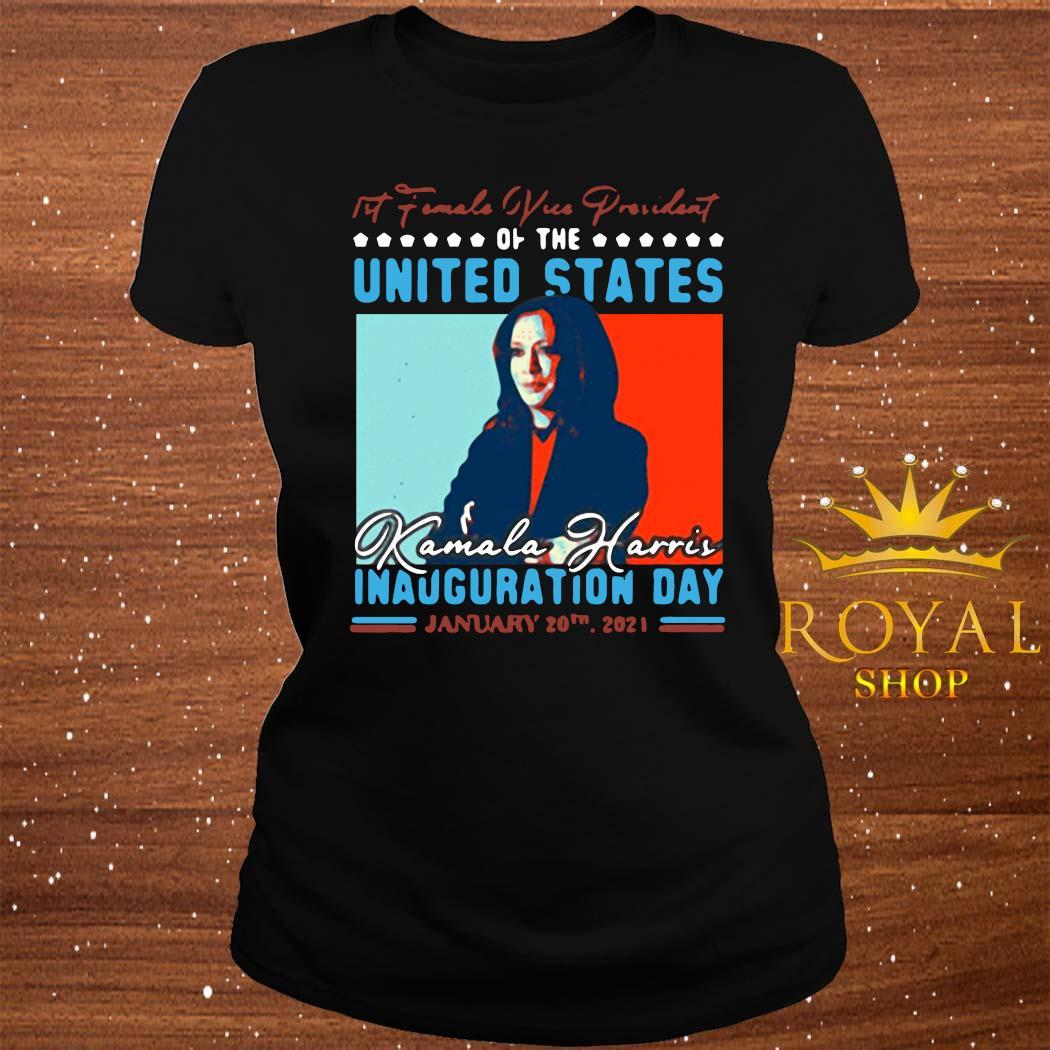 Harris First Female Vice President Biden Harris 2021 Inauguration Day Shirt ladies-tee