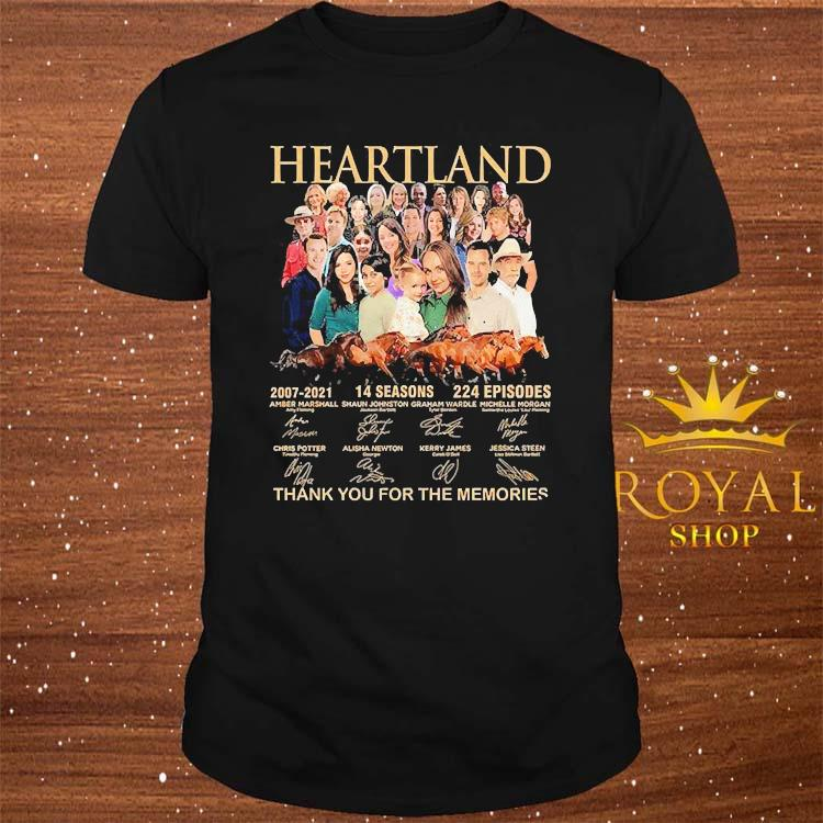 Heartland 2007 2021 14 Seasons 224 Episodes Thank You For The Memories Signatures Shirt