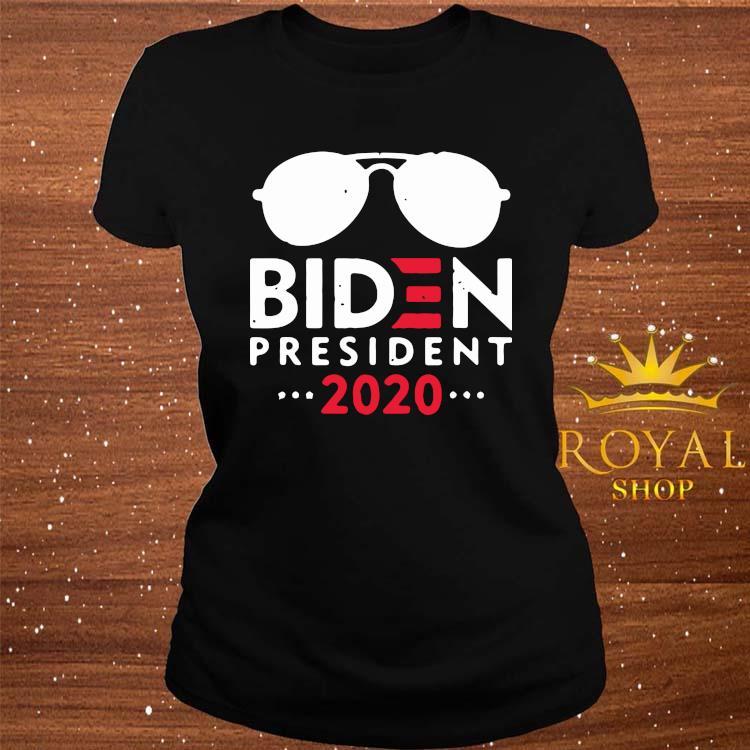 Joe Biden 2020 Vintage 46th Distressed Biden president 2020 Shirt ladies-tee
