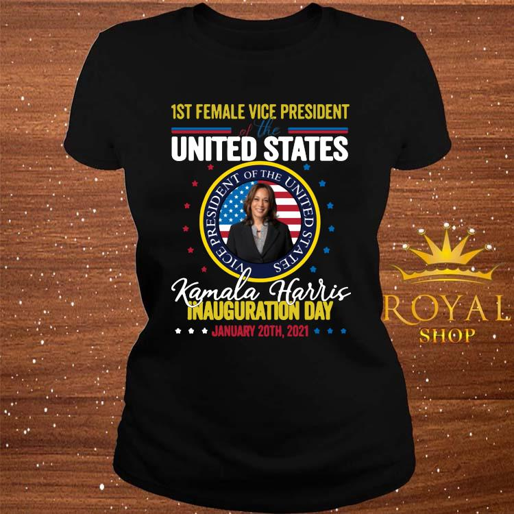 Kamala Harris First Female Vice President Inauguration Day Shirt ladies-tee