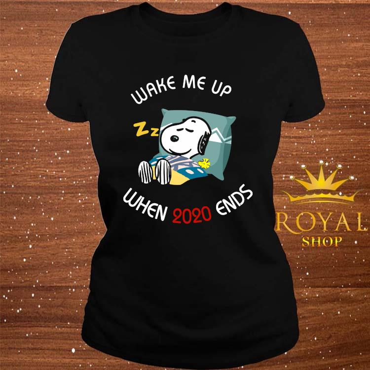 Snoopy Wake Me Up When 2020 Ends Shirt ladies-tee