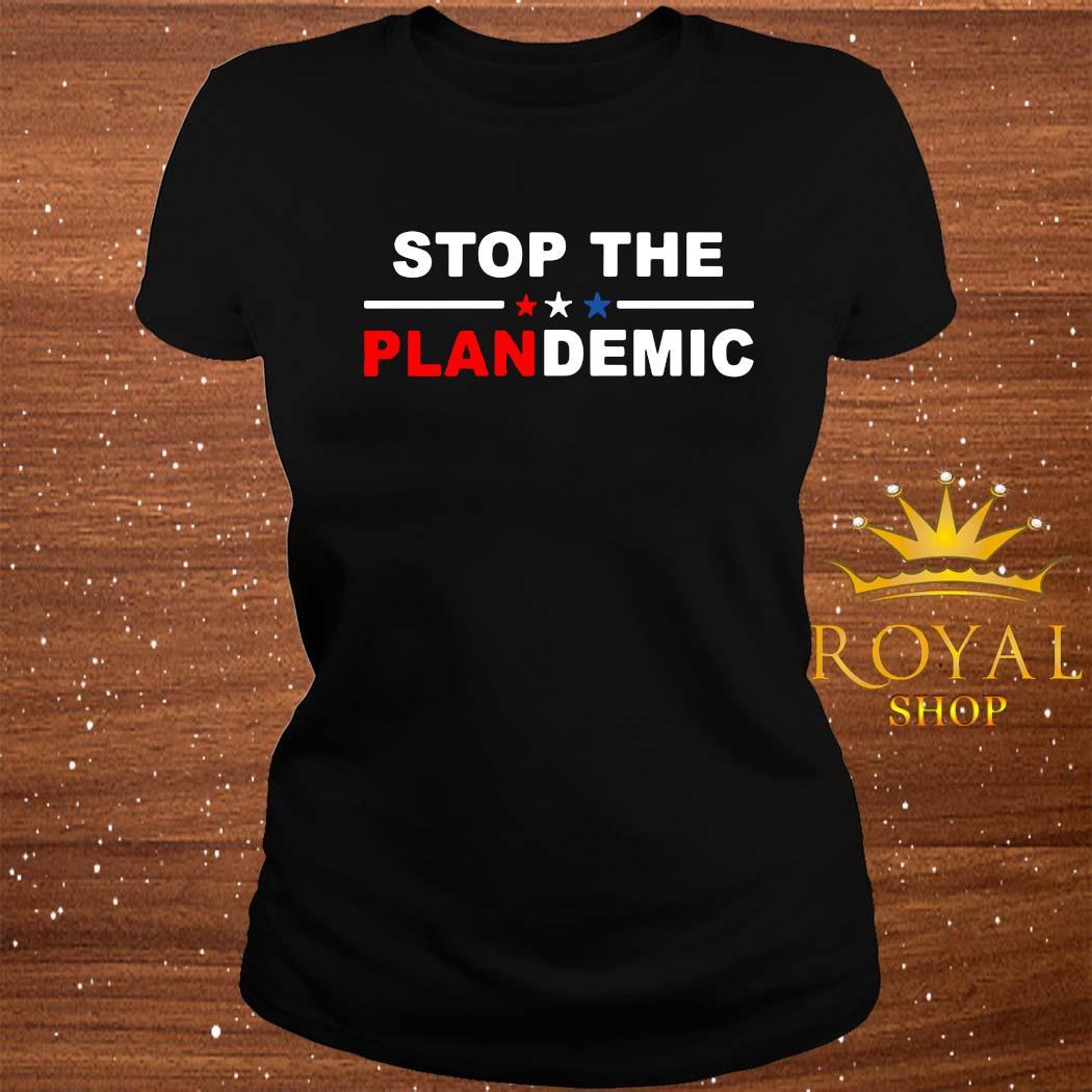 Stop The Plandemic Shirt ladies-tee