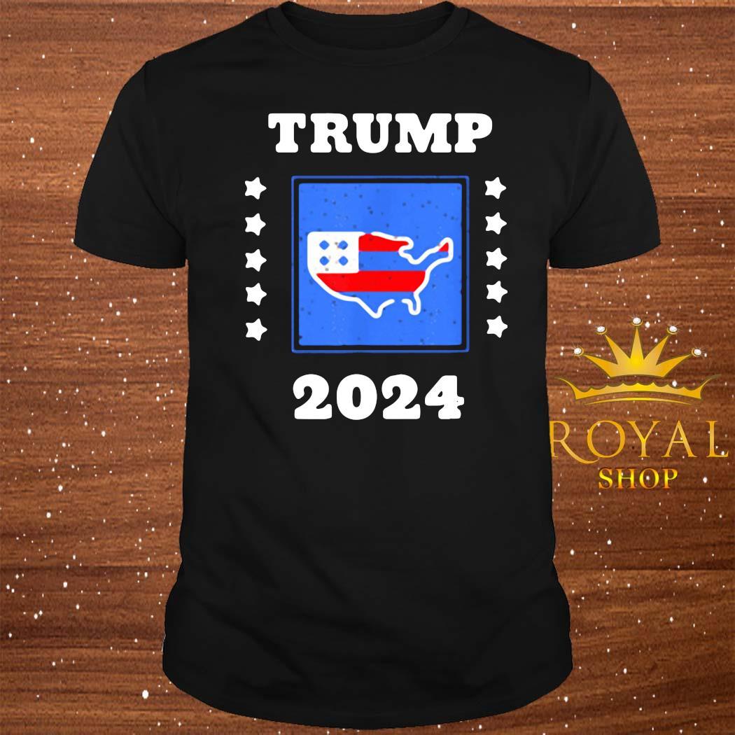 Trump 2024 Election Flag Keeping America Great American Flag President Shirt