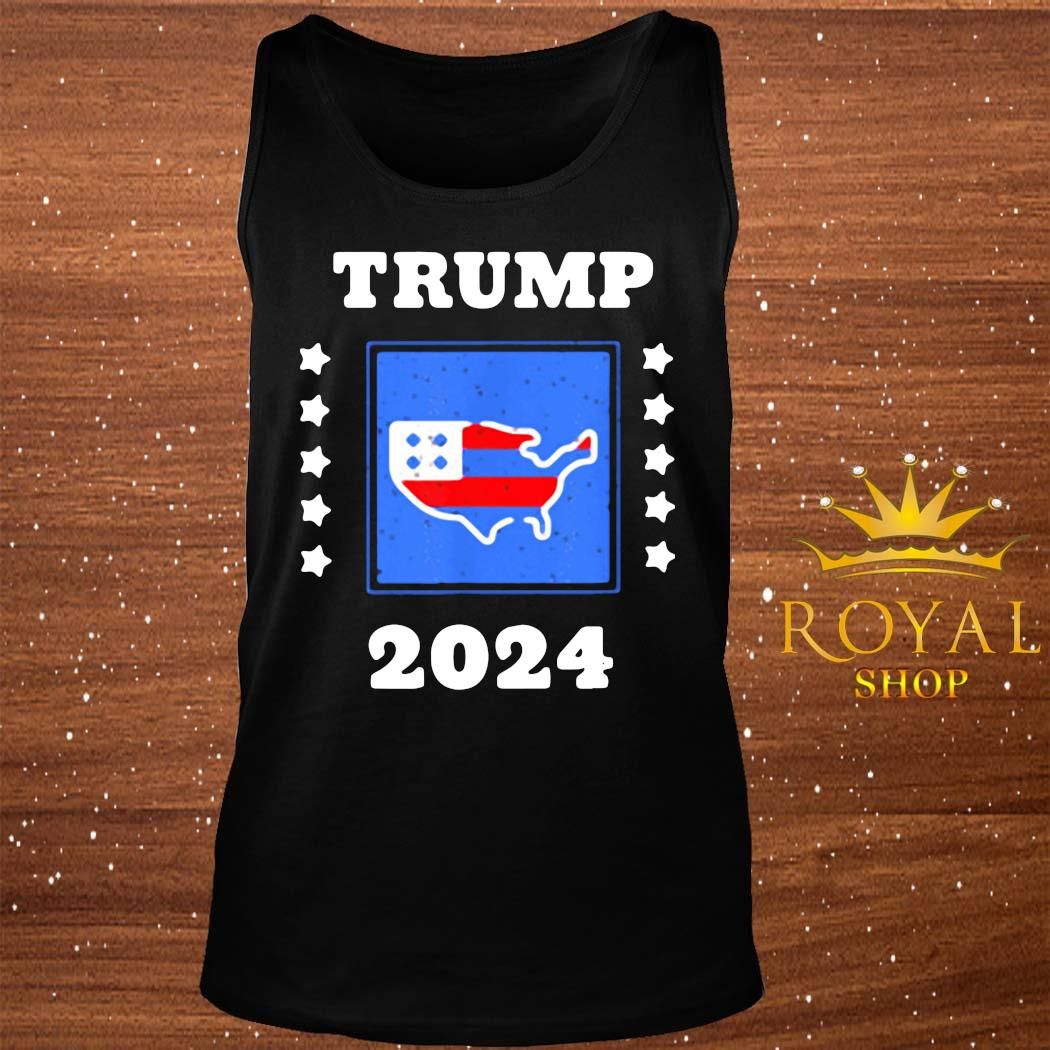 Trump 2024 Election Flag Keeping America Great American Flag President Shirt tank-top